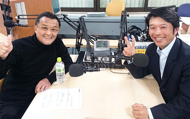 ゲストの飯星宗美さん(左)、前田直樹さん(右)