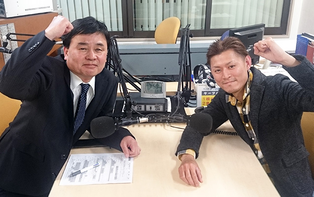 ゲストの宮本幸雄さん(左)、築城誠さん(右)