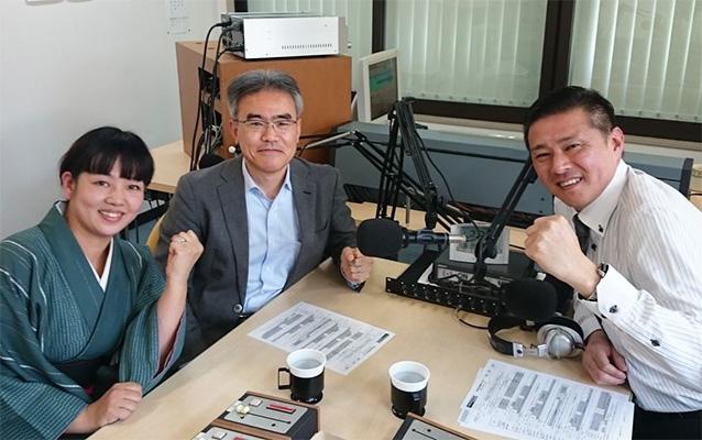 ゲストの平山愛さん(左)、知識茂雄さん(中央)、松原晃由さん(右)