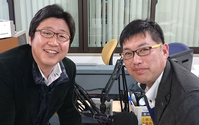 ゲストの桝永健夫さん(写真左)、坂部龍也さん(写真右)
