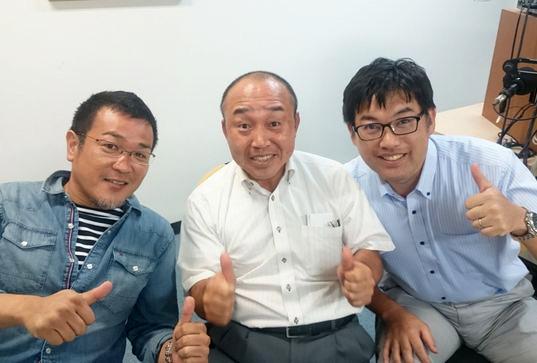 ゲストの木下慎太郎さん(写真左)、吉田周生さん(写真中央)、坂部龍也さん(写真右)
