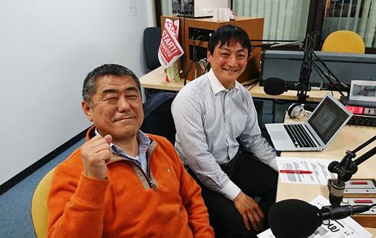 ゲストの穴井憲義さん(写真手前)、吉川晃史さん(写真奥)