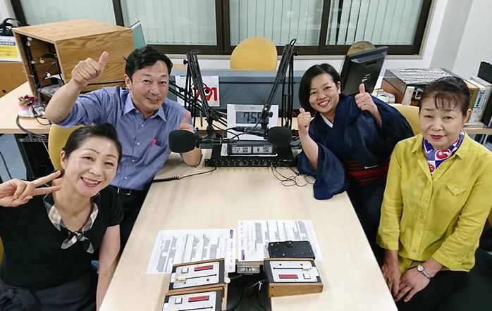 ゲストの竹下里恵さん(写真左下)と鳥丸克彦さん(写真左上)と平山愛さん(写真右上)と井村秋代さん(写真右下)