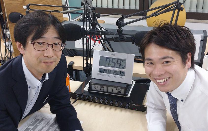 ゲストの今坂豪志さん(写真左)、守田雅規さん(写真右)