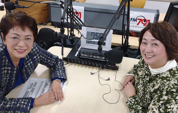 ゲストの山本雅子さん(写真左)、田中由美子さん(写真右)