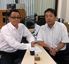 MC:増岡範昭代表取締役 ゲスト:長田浩志代表取締役