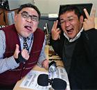 (株)産交タクシー代表取締役 小山 剛司さん、(有)ク レ ッ シ ェ ン ドChiefProducerの木下慎太郎さん